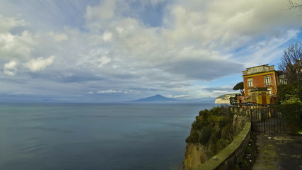 Sorrento coastline, Gulf of Naples and Mount Vesuvius