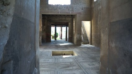 Views inside of a home in the ancient Italian city of Pompeii.
