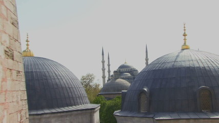 ZI OF THE BLUE MOSQUE FROM HAGGIA SOPHIA ISTANBUL TURKEY