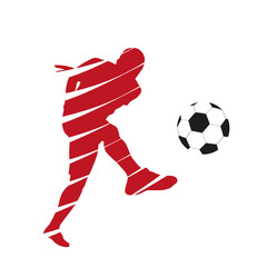 Red vector football player