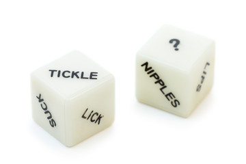 Two sex dice toys for couples with different words