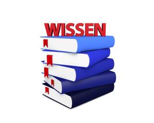 Wissen Bücher Stapel