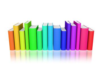 Bücher bunt Reihe freigestellt