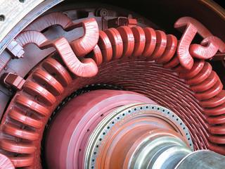 Electric power generator and steam turbine during repair