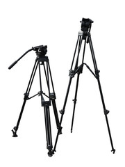 tripod for photo and video cameras isolated over white