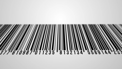 4k - Loopable animation of barcode with alpha matte