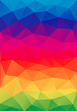 Fototapety abstract colorful low poly background, vector