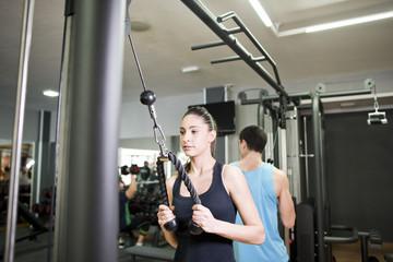Gym triceps training