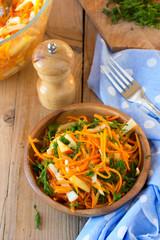 Raw pumpkin salad