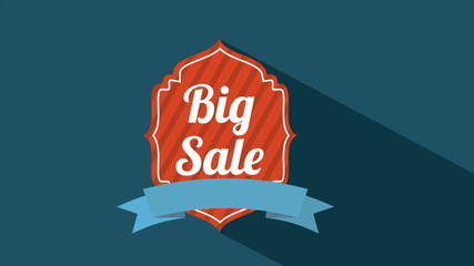 Big sale label, Video animation, HD 1080