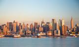 Fototapety New York City Manhattan midtown buildings skyline evening