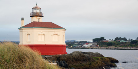 Coquille River Lighthouse Bandon Bay Oregon Pacific Ocean Inlet