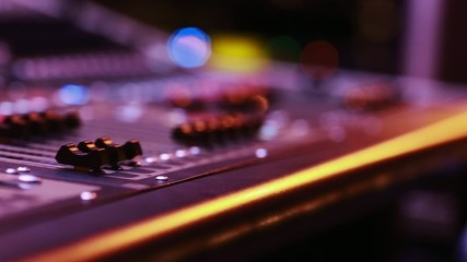 CooDigital Audio Console Fader by stage during performance