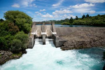 Aratiatia Rapids dam on Waikato river opened