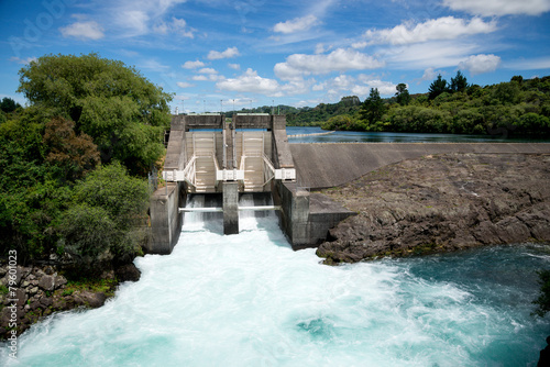 Aratiatia Rapids dam on Waikato river opened