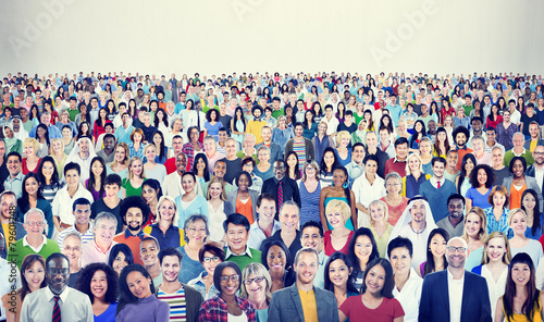 Large Group Diverse Multiethnic Cheerful People Concept - 79601248