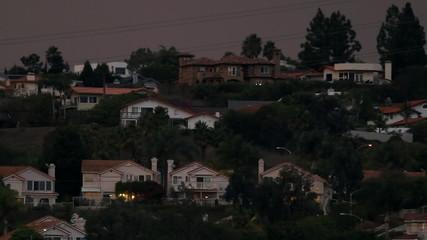 Large Homes Timelapse Night
