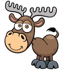 Vector illustration of Deer cartoon