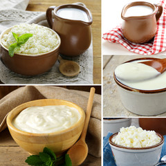 collage of assorted dairy products
