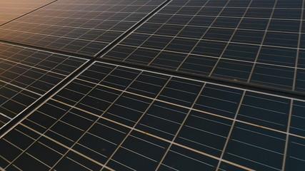 Solar panel plant, ecology power