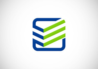 square line construction vector logo