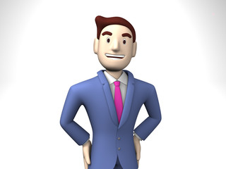 Waist Up Of Smiling Businessman
