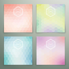 Abstract hexagon background set
