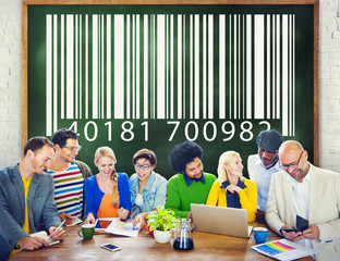 Bar Code Digital Purchasing Information Concept