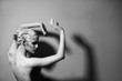 Leinwanddruck Bild - Portrait of the beautiful naked woman