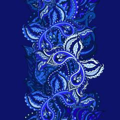 Indian paisley seamless pattern