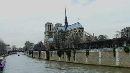 Time laps, WS, Notre Dame, Paris, France