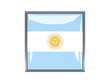 Square icon with flag of argentina