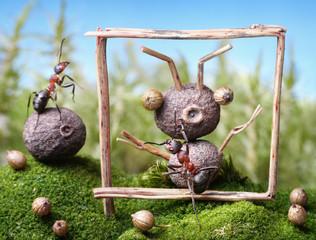 portrait of friend, ant tales