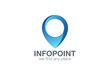 Logo Geo point navigation design. Location Pin map icon