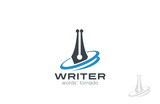 Writer Pen Logo design. Law symbol. Legal Lawyer logotype