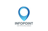 Logo Geo point navigation design. Location Pin map icon - 79608417