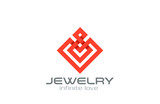 Infinity loop Abstract Square Rhombus Logo design vector - 79608456