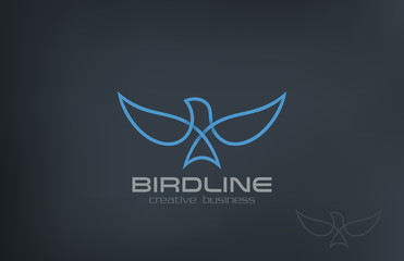 Abstract Flying Soaring Bird Logo design vector icon