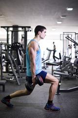 Leg split with weights, quadriceps exercises