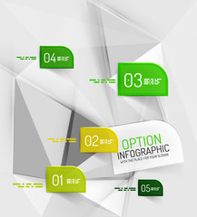 Vector fresh business abstract infographics template