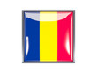 Square icon with flag of chad