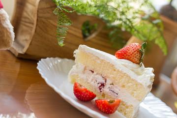 homemade strawberry short cake