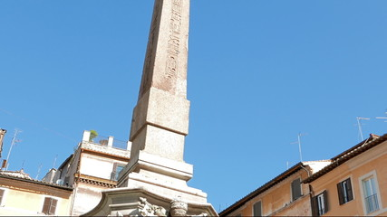 Obelisk of the Fontana del Pantheon. Rome, Italy