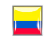 Square icon with flag of colombia