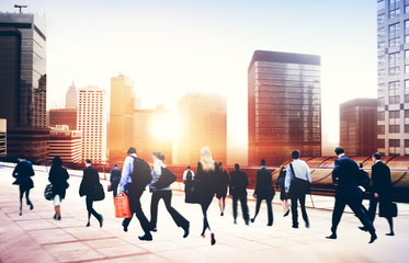 Commuter Buiness People Corporate Cityscape Travel Concept