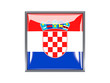 Square icon with flag of croatia