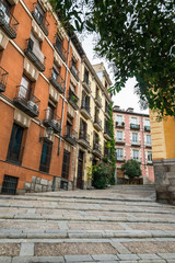スペイン マドリード 石畳の坂
