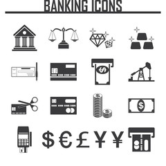 banking vector icons.