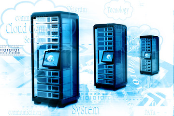 Digital illustration of network server
