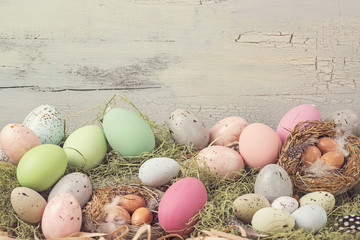 Easter pastel colored decoration